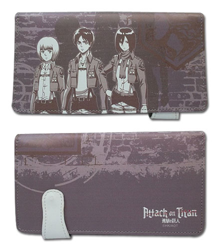 Attack On Titan - Wall Maria Wallet, an officially licensed Attack On Titan product at B.A. Toys.