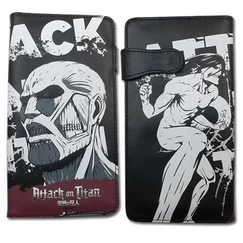 Attack On Titan - Attack On Giant Wallet officially licensed Attack On Titan Wallet & Coin Purse product at B.A. Toys.