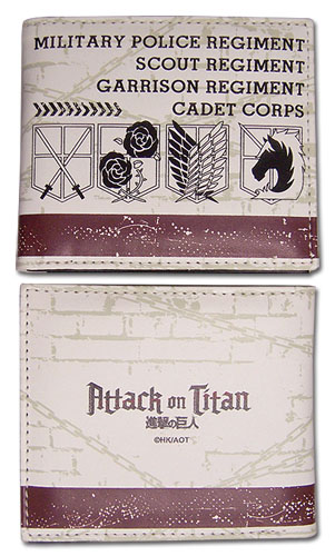 Attack On Titan - Emblem Wallet officially licensed Attack On Titan Wallet & Coin Purse product at B.A. Toys.