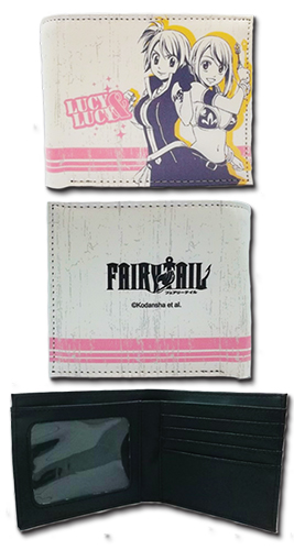Fairy Tail - Lucy & Lucy Boy Wallet, an officially licensed product in our Fairy Tail Wallet & Coin Purse department.