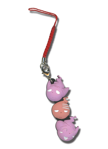 Soul Eater Death The Kid, Liz & Patti Kishin Cell Phone Charm, an officially licensed Soul Eater Cell Phone Accessory