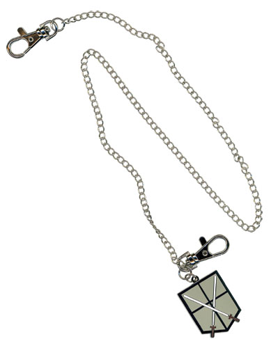 Attack On Titan Trainees Squad Emblem Wallet Chain officially licensed product at B.A. Toys.