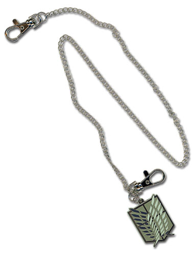 Attack On Titan Scout Regiment Emblem Wallet Chain, an officially licensed product in our Attack On Titan Wallet & Coin Purse department.