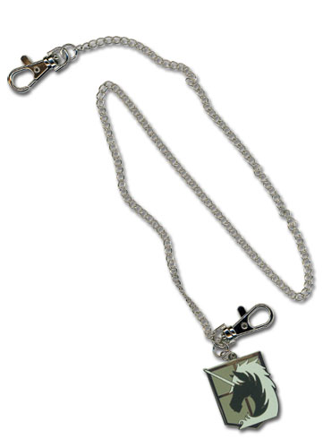 Attack On Titan Military Police Regiment Emblem Wallet Chain, an officially licensed Attack On Titan product at B.A. Toys.