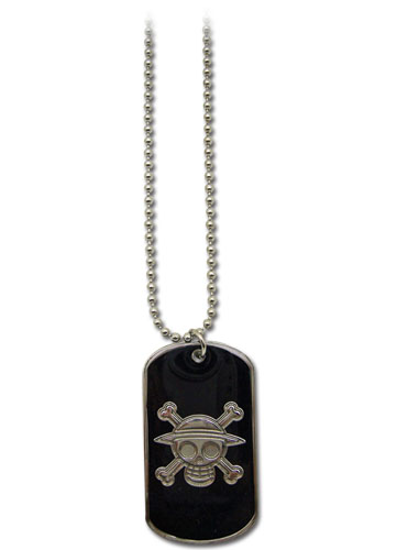 One Piece Skull Dog Tag Necklace, an officially licensed product in our One Piece Jewelry department.