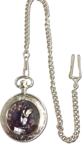 Black Butler - Sebatian Pocket Watch, an officially licensed Black Butler product at B.A. Toys.