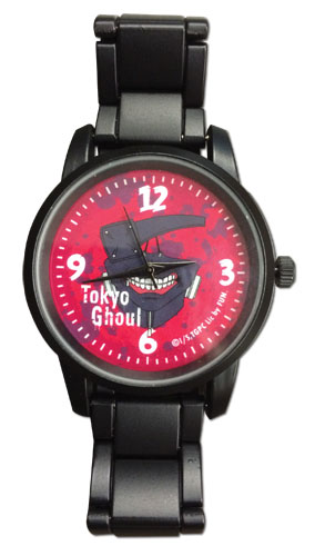 Tokyo Ghoul - Kaneki'S Mask Metal Watch officially licensed Tokyo Ghoul Watches product at B.A. Toys.