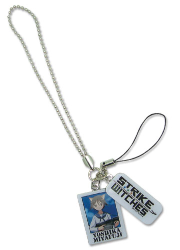 Strike Witches Yoshika And 501St St Cell Phone Charm, an officially licensed product in our Strike Witches Costumes & Accessories department.