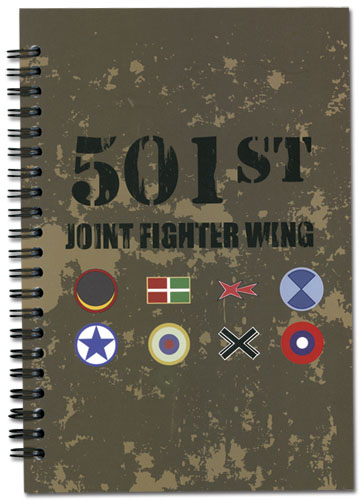Strike Witches Flags Notebook, an officially licensed product in our Strike Witches Stationery department.