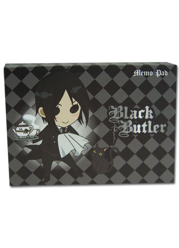 Black Butler Sd Sebastian Memo Pad, an officially licensed Black Butler Stationery