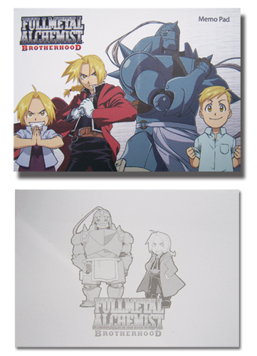 Fma Brotherhood Memo Pad, an officially licensed Full Metal Alchemist Stationery