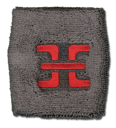 Deadman Wonderland Prison Symbol Terry Cloth Wristband officially licensed Deadman Wonderland Wristbands product at B.A. Toys.