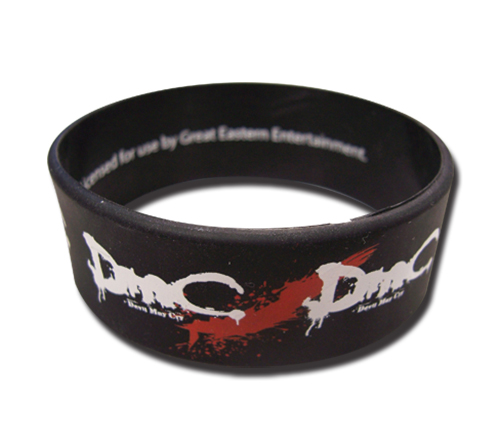 Devil May Cry Dmc Logo Pvc Wristband, an officially licensed Devil May Cry product at B.A. Toys.
