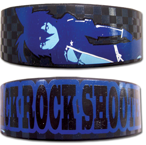 Black Rock Shooter Black Rock Shooter Pvc Wristband, an officially licensed Black Rock Shooter Wristband