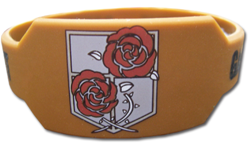Attack On Titan - Garrison Regiement Pvc Wristband officially licensed product at B.A. Toys.