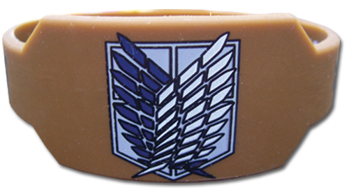 Attack On Titan - Scout Regiment Pvc Wristband officially licensed Attack On Titan Wristbands product at B.A. Toys.