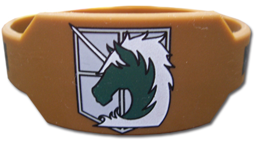 Attack On Titan - Military Police Regiment Pvc Wristband, an officially licensed product in our Attack On Titan Wristbands department.