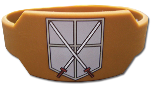 Attack On Titan - Cadet Corps Pvc Wristband officially licensed Attack On Titan Wristbands product at B.A. Toys.