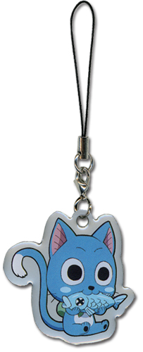 Fairy Tail Happy Cellphone Charm, an officially licensed product in our Fairy Tail Costumes & Accessories department.