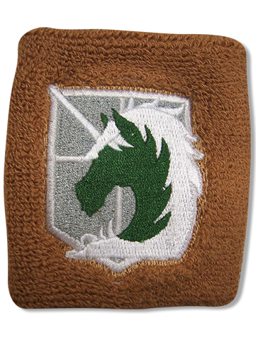 Attack On Titan Military Police Brigade Emblem Wristband officially licensed product at B.A. Toys.