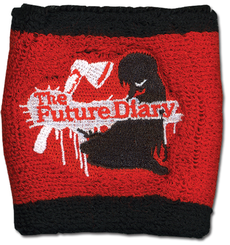 Future Diary - Yuno Red Wrsitband officially licensed Future Diary Wristbands product at B.A. Toys.