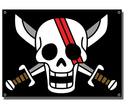 One Piece Shank's Flag officially licensed product at B.A. Toys.