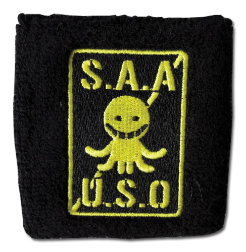 Assassination Classroom - S.A.A.U.S.O. Emblem Wristband, an officially licensed Assassination Classroom product at B.A. Toys.