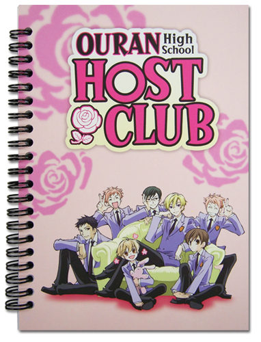 Ouran High School Host Club Group Notebook, an officially licensed product in our Ouran High School Host Club Stationery department.