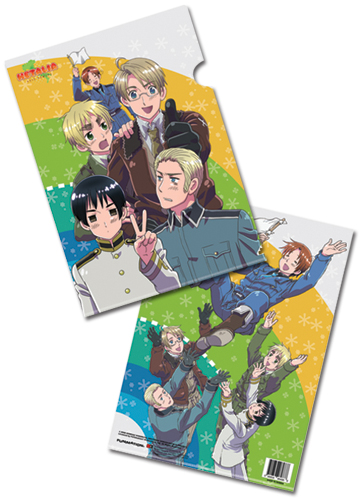Hetalia Group File Folder (5 Pcs Pack), an officially licensed product in our Hetalia Stationery department.