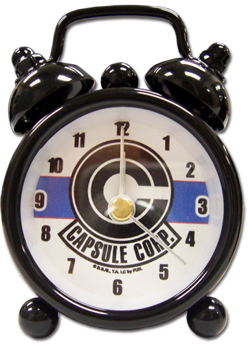 Dragon Ball Z Capsule Corp Mini Desk Clock officially licensed product at B.A. Toys.