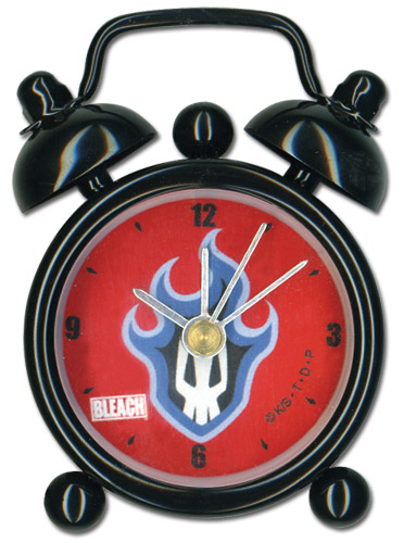 Bleach Flamming Skull Mini Desk Clock officially licensed product at B.A. Toys.