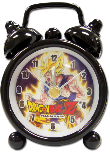 Dragon Ball Z Ss Goku Mini Desk Clock officially licensed product at B.A. Toys.