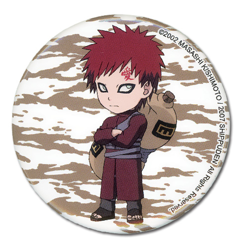 Naruto Shippuden Gaara Sd Button, an officially licensed product in our Naruto Shippuden Buttons department.