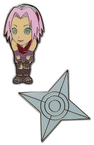 Naruto Shippuden Sd Sakura Pin Set, an officially licensed product in our Naruto Shippuden Pins & Badges department.