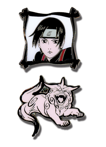 Naruto Shippuden Shishi Sai Metal Pin Set, an officially licensed product in our Naruto Shippuden Pins & Badges department.