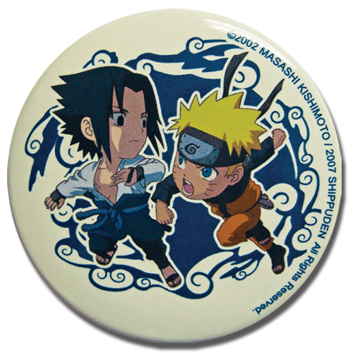 Naruto Shippuden Sakuke & Naruto Button, an officially licensed product in our Naruto Shippuden Buttons department.