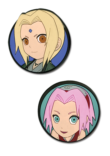 Naruto Shippuden Sd Sakura & Tsunade Pvc Pin Set, an officially licensed product in our Naruto Shippuden Pins & Badges department.