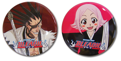 Bleach Kenpachi And Yachiru Pin Set, an officially licensed Bleach product at B.A. Toys.