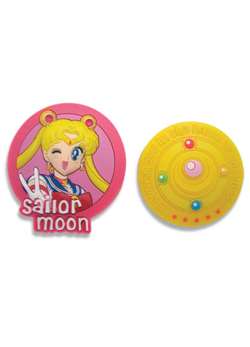 Sailormoon Moon And Icon Pvc Pinset, an officially licensed product in our Sailor Moon Pins & Badges department.