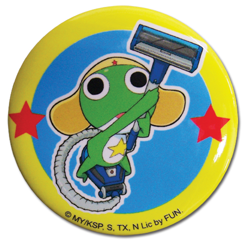 Sergeant Frog Keroro Button officially licensed product at B.A. Toys.
