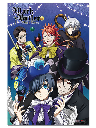 Black Butler B.O.C. - Circus Group Paper Poster, an officially licensed product in our Black Butler Book Of Circus Posters department.