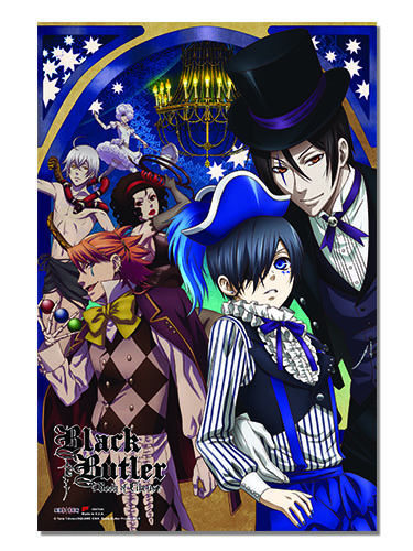 Black Butler B.O.C. - Group Paper Poster, an officially licensed product in our Black Butler Book Of Circus Posters department.
