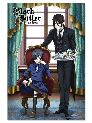Black Butler Boc - B - Sebastian Ciel Tea Paper Poster, an officially licensed Black Butler Book Of Circus product at B.A. Toys.