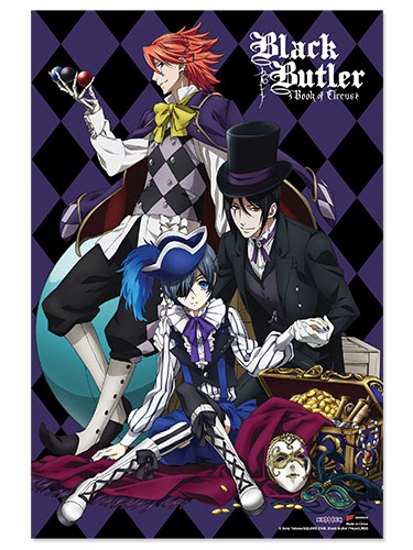 Black Butler Boc - B - Sebastian Ciel Paper Poster, an officially licensed Black Butler Book Of Circus product at B.A. Toys.