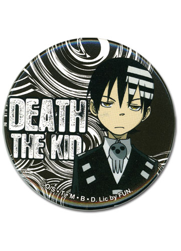 Soul Eater Death The Kid Button officially licensed product at B.A. Toys.