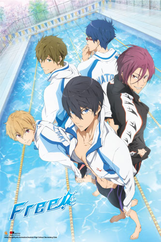 Free! - Group Paper Poster, an officially licensed product in our Free! Posters department.