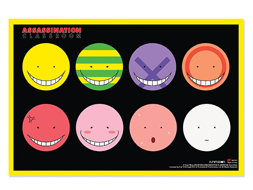 Assassination Classroom - Koro Sensei's Faces Paper Poster, an officially licensed Assassination Classroom product at B.A. Toys.