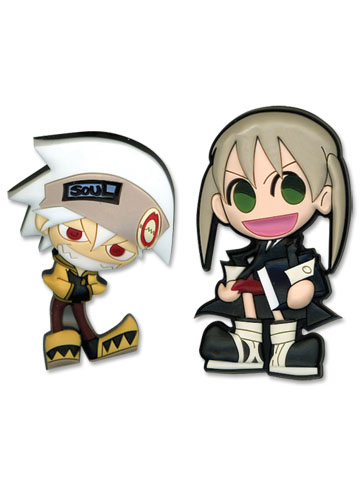 Soul Eater Soul & Maka Pvc Pin Set, an officially licensed product in our Soul Eater Pins & Badges department.