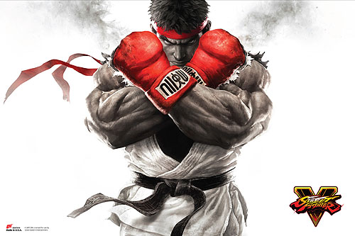Street Fighter V - Ryu Key Art Paper Poster, an officially licensed product in our Street Fighter Posters department.