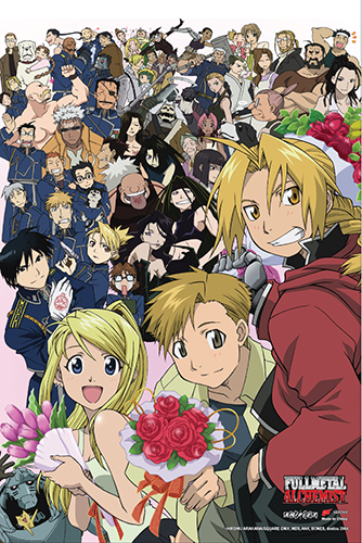 Fullmetal Alchemist - Group Paper Poster, an officially licensed product in our Fullmetal Alchemist Posters department.